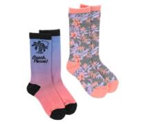 Beach Please Sublimated Socks multi