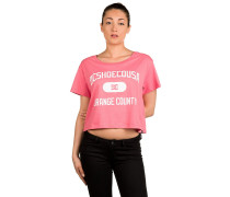 Rollin Down Crop T-Shirt pink