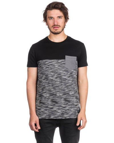 Space Slub Pocket T-Shirt black mel