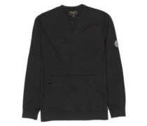 Wave Washed Crew Sweater black