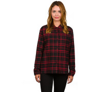 Treasure Flannel Woven Hemd schwarz