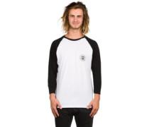 Stamped Logo Hip T-Shirt LS white