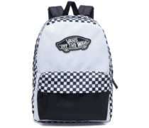 Realm Backpack white checkerboard
