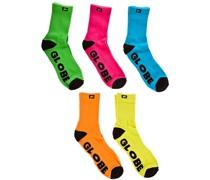 Neon Crew 5Pk Crew Socks