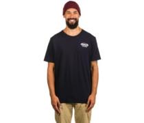 Oval Script Pocket T-Shirt dark navy white