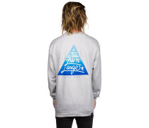 Triangle Crew Sweater grau