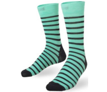 Mid Calf Socks black stripes