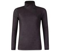 Hidden Zip Fleece Pullover schwarz