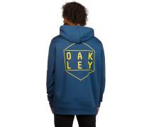 Hexa-Gone Fleece Kapuzenjacke blau