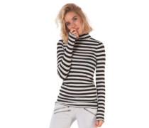 Stripes Cut T-Shirt LS black