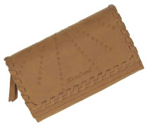 Lotus Cheque Book Wallet vintage tan