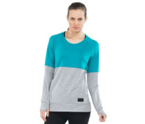 Merino Covert Tech Panel Sweater grey marl