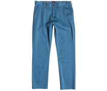 Worker Straight Chino Hose blau