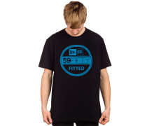 Visor Sticker T-Shirt schwarz