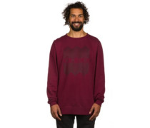 Meta Crew Sweater burgundy