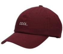 Solstice Cool Dad Cap burgundy