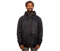 Heat Faux Leather Jacke schwarz