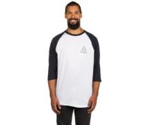 Triple Triangle Raglan T-Shirt LS white navy