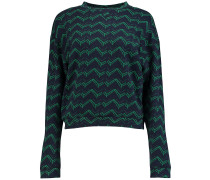 Easy Print Crew Sweater blau