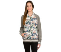 Walsh Zip Bomber Jacket white sand tropical