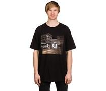 Bus Photo Basic T-Shirt schwarz