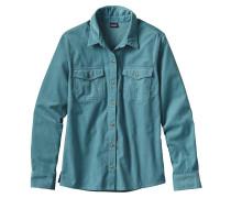 Micro Cord Hemd blau