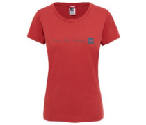 Never Stop Exploring T-Shirt bossa nova red
