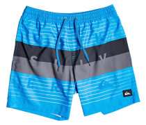 Word Block Volley 17 Boardshorts blithe