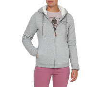 The Heat Superfleece Kapuzenjacke grau