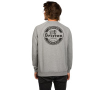 Soto Crew Fleece Sweater grau