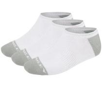 Basic Perfoprmance No Show 3Pk Socken weiß