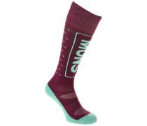 Merino Snow Tech Socken violett