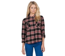 Cozy Day Cropped Shirt LS black combo