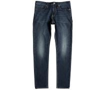 Washed Slim Jeans blau