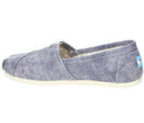 Seasonal Classic Slippers Women slate blue washed twill