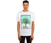 Tree Grid T-Shirt white