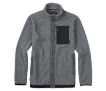 Hearth Snap Up Fleece Jacket dark ash heather