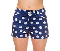 Dot High Waisted Shorts blau