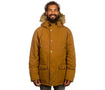 Caught Parka Mantel braun