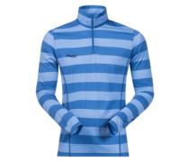 Soleie Half Zip Fleece Jacket summerblue stripe