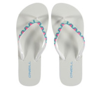 Printed Strap Sandals Women white aop
