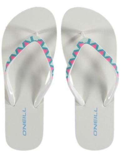 Printed Strap Sandals Women white aop