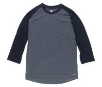 Basic Raglan Qtr T-Shirt LS charcoal heathe