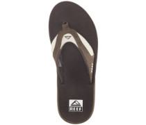 Leather Fanning Sandals brown