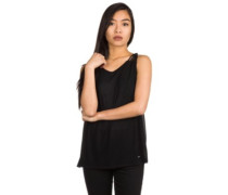 Macrame Back Tank Top black out