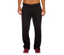 Worker Straight Chino Hose schwarz