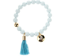 BT Tassel Pearl Bracelet with Swarovski Crystals blue