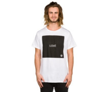 Square White T-Shirt white