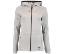 Zip Fleece Jacket silver melee