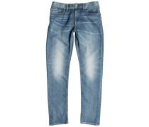 Washed Slim Jeans grau